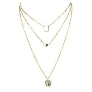 Jewelry - NWT Delicate Layered Geometric Pendant Necklace